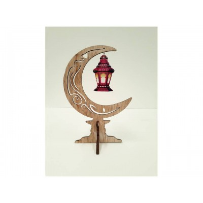 Stand Up - Rustic Crescent - Red Lantern - LARGE