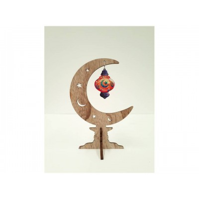 Stand Up - Rustic Crescent - Star & Moon Lantern - LARGE